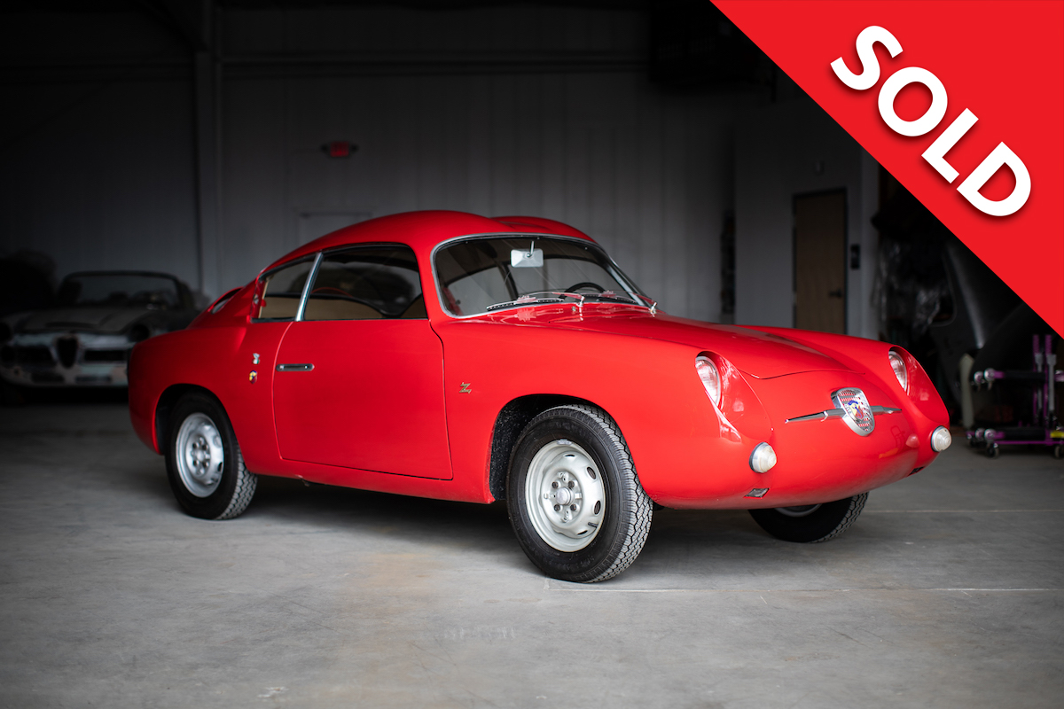 SOLD -1959 Fiat Abarth 750 Zagato double bubble