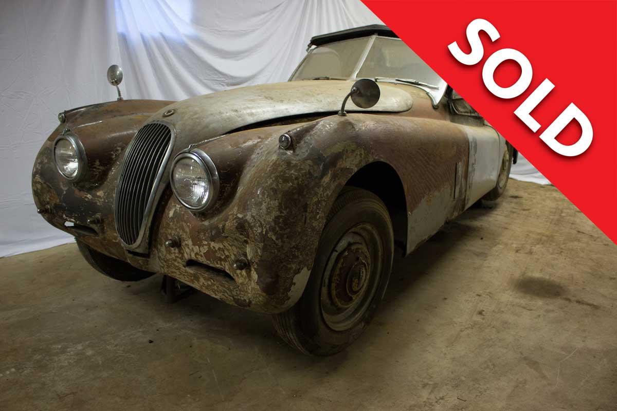 SOLD 1954 Jaguar XK120 Roadster Barn Find