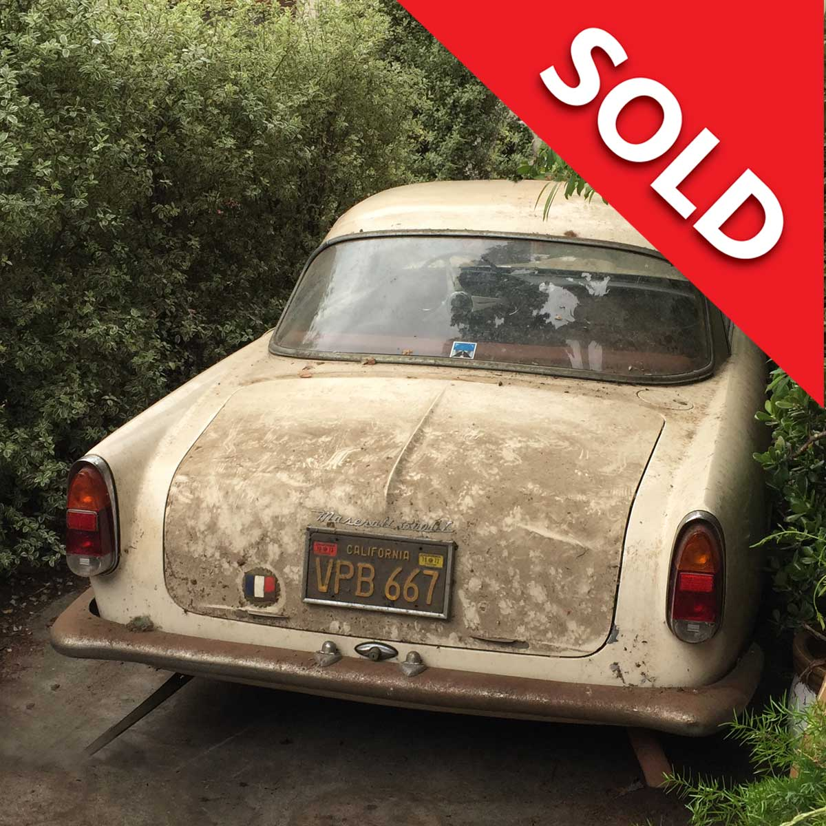 Sold – 1962 Maserati 3500GT Barn Find