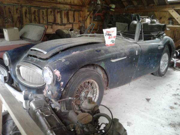 Austin Healey 3000 BJ7 Barn Find
