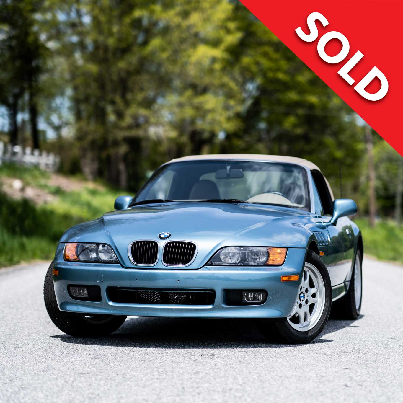 Sold – 7,600 miles from new.  James Bond edition.  BMW Z3 Roadster.