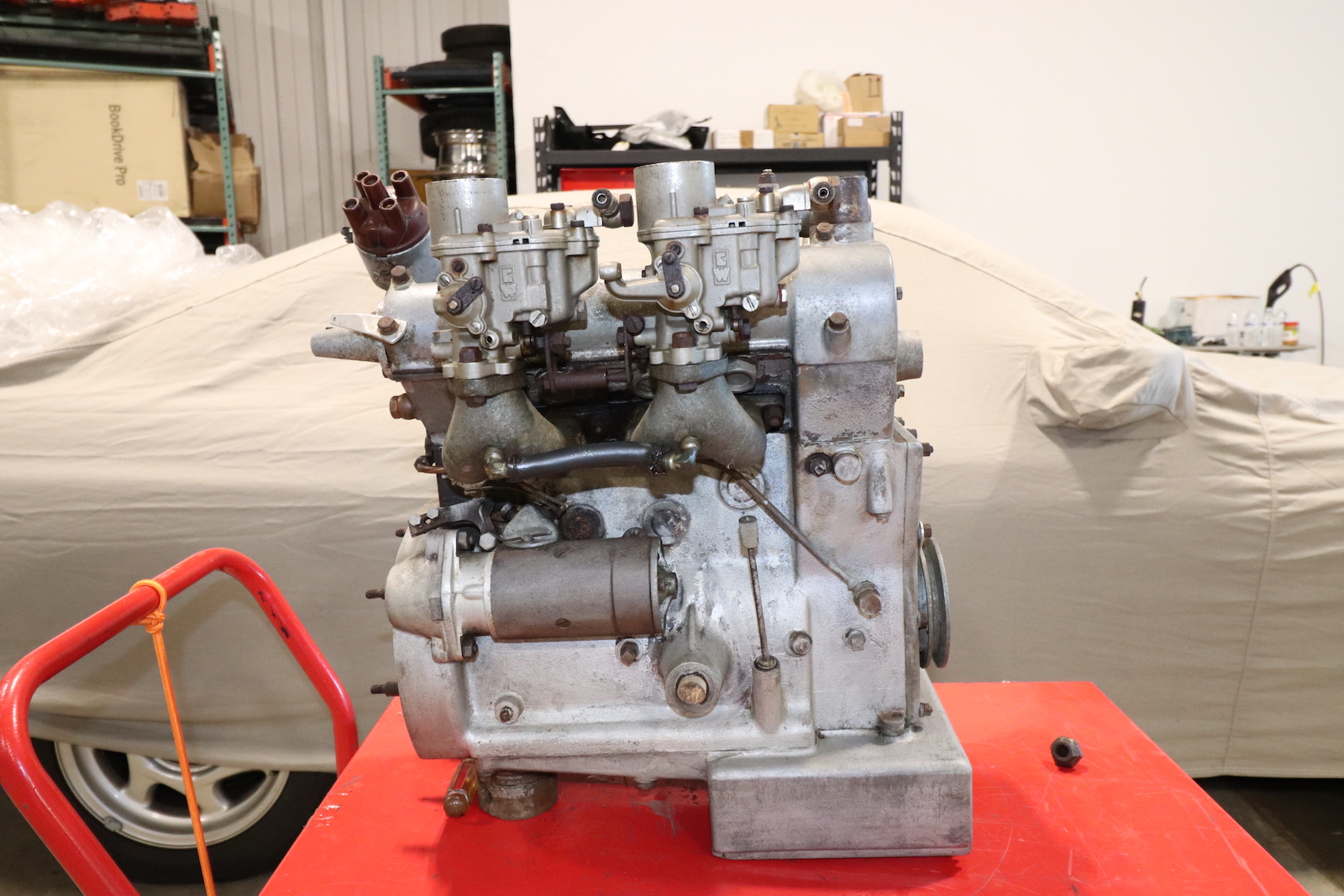 1953 Moretti 750 Twin Cam Engine